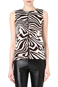 MICHAEL KORS Zebra-print sleeveless top