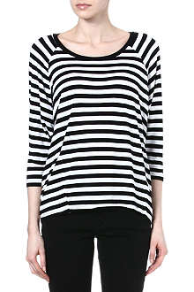 MICHAEL KORS Striped jersey top