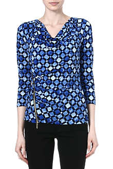 MICHAEL KORS Printed zip-detail top