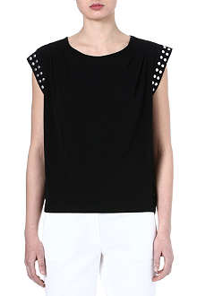 MICHAEL KORS Studded jersey top