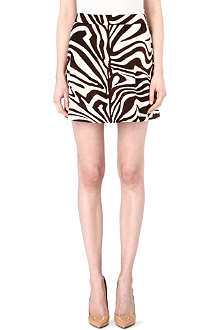 MICHAEL KORS Zebra-print mini skirt