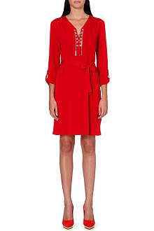 MICHAEL MICHAEL KORS Chain-detail stretch-crepe dress