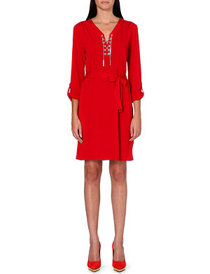 MICHAEL MICHAEL KORS Chain-detail stretch-crepe dress