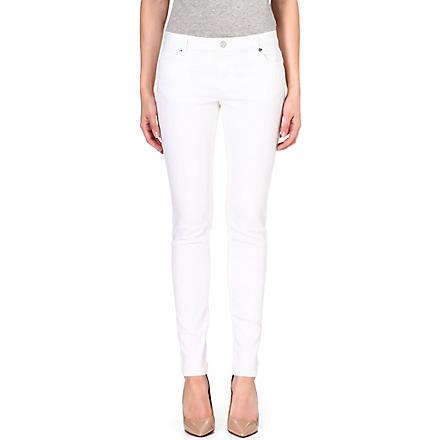 MICHAEL MICHAEL KORS Jetset skinny mid-rise jeans (White