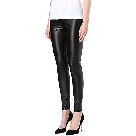 MICHAEL KORS Faux-leather leggings (Black