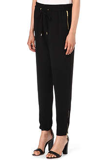 MICHAEL KORS Cropped zipped track trousers