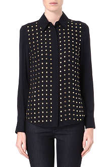 MICHAEL KORS Studded-front shirt