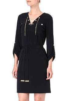 MICHAEL KORS Chain lace-up dress