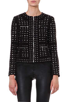 MICHAEL KORS Studded zip front jacket