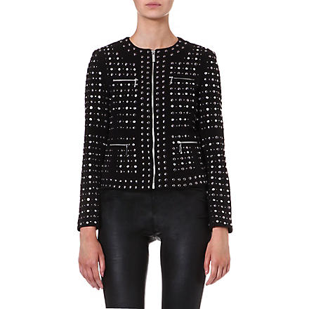 MICHAEL KORS Studded zip front jacket (Black
