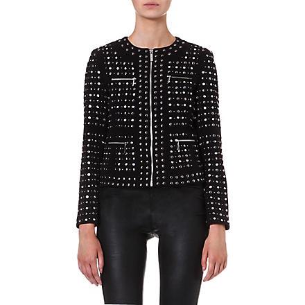 MICHAEL MICHAEL KORS Studded zip front jacket (Black