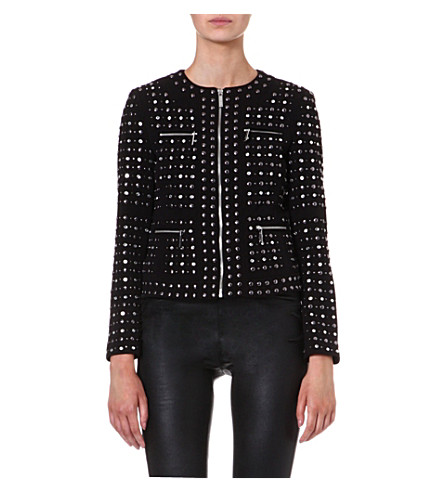 MICHAEL MICHAEL KORS Studded zip front jacket (Black