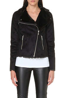 MICHAEL KORS Faux fur biker jacket
