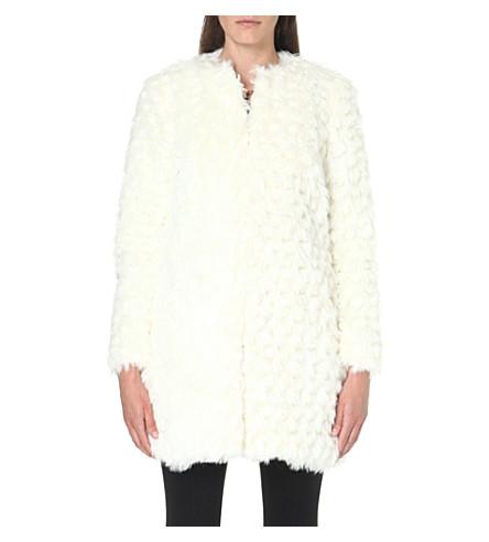 MICHAEL MICHAEL KORS Faux-fur coat (Cream