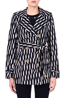 MICHAEL MICHAEL KORS Printed short trench coat