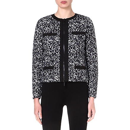 MICHAEL KORS Printed quilted jacket (Black