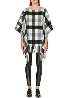 MICHAEL KORS Blanket fringe fleece poncho