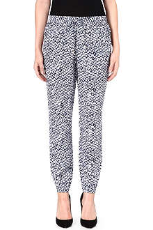MICHAEL KORS Batik-print silk trousers