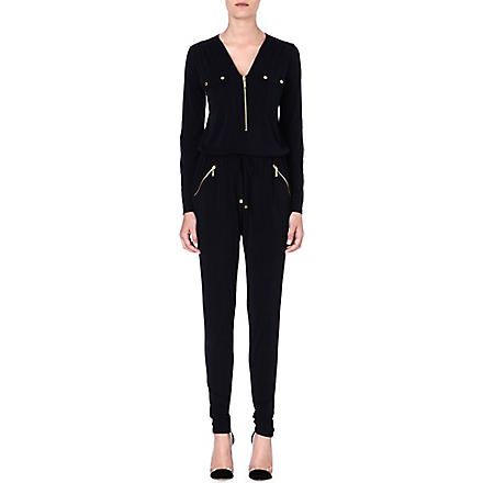 MICHAEL KORS Slim-fit jersey jumpsuit (Navy
