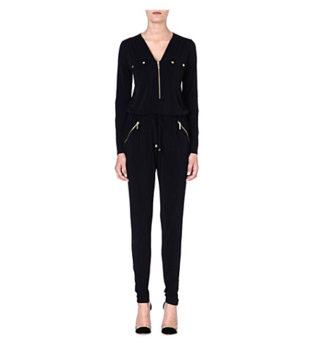 MICHAEL MICHAEL KORS Slim-fit jersey jumpsuit (Navy