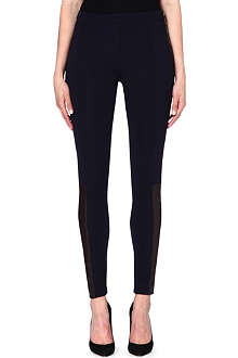 MICHAEL KORS Contrast leather panel trousers