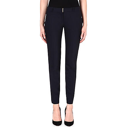 MICHAEL KORS Beverly slim-fit tapered trousers (Navy