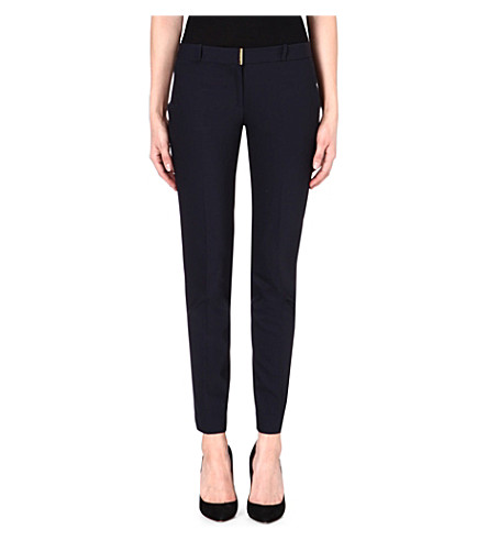 MICHAEL MICHAEL KORS Beverly slim-fit tapered trousers (Navy