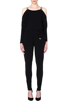 MICHAEL KORS Belted jersey jumpsuit