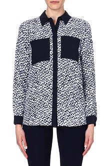 MICHAEL KORS Contrast silk shirt