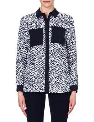 MICHAEL MICHAEL KORS Contrast silk shirt