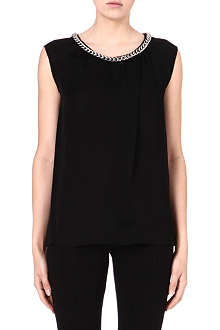MICHAEL MICHAEL KORS Chain-detail silk top