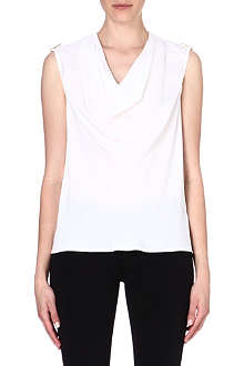 MICHAEL MICHAEL KORS Cowl-neck silk top