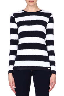 MICHAEL KORS Stripe-print jersey top