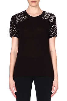 MICHAEL KORS Embellished jersey top