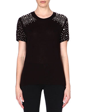 MICHAEL MICHAEL KORS Embellished jersey top