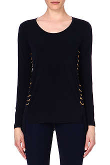 MICHAEL KORS Chain detail jersey top