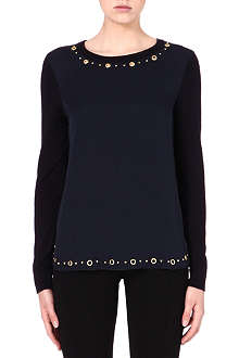 MICHAEL KORS Silk stud-detail top