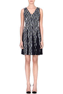 MICHAEL KORS Flared stretch-crepe dress