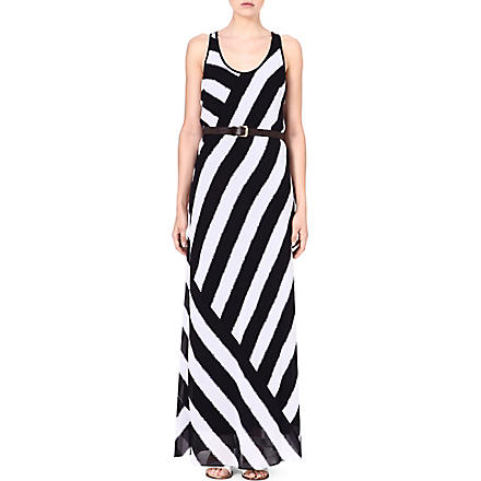MICHAEL KORS Striped maxi dress (Navy