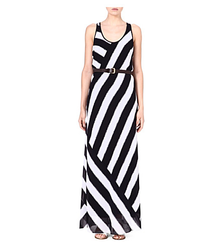 MICHAEL MICHAEL KORS Striped maxi dress (Navy