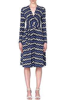 MICHAEL KORS Chevron twist-wrap dress