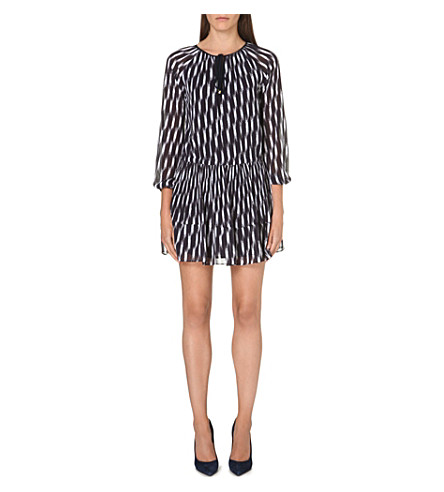 MICHAEL MICHAEL KORS Abstract crepe dress (Navy