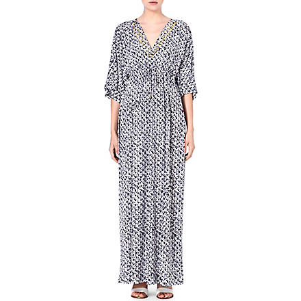 MICHAEL KORS Printed maxi dress (Navy