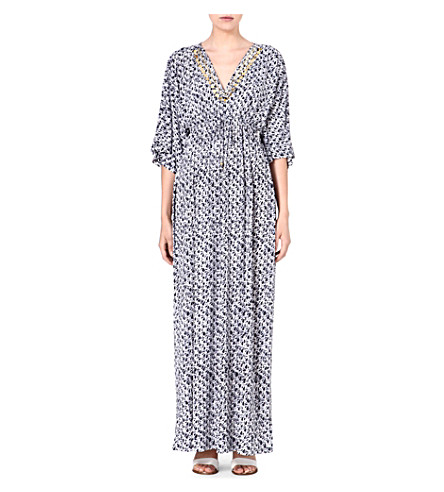 MICHAEL MICHAEL KORS Printed maxi dress (Navy