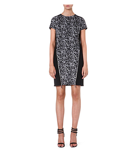 MICHAEL MICHAEL KORS Zip front animal dress (Black