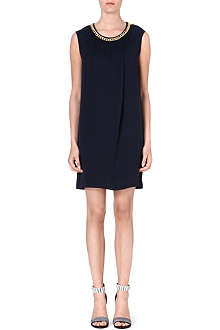 MICHAEL MICHAEL KORS Chain-trim silk dress