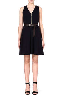 MICHAEL KORS Belted flare dress