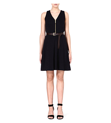 MICHAEL MICHAEL KORS Belted flare dress (Navy