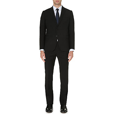ARMANI COLLEZIONI Wool two-button suit (Black