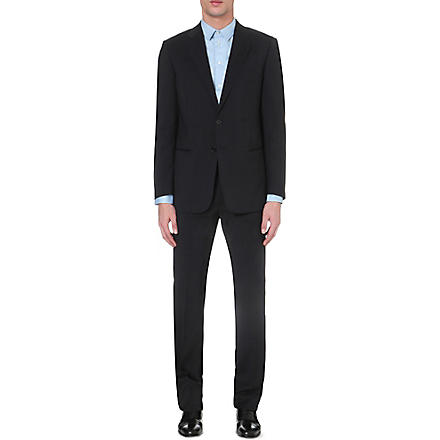 ARMANI Wool two-button suit (Navy